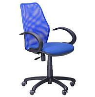 Кресло Oxi АМФ-5 сиденье Квадро-20, спинка Сетка синяя