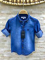 Детская джинсовая  рубашка .Турция.ARMANI KIDS