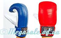 Снарядные перчатки с манжетом на липучке Zel 4001: кожа, M/L/XL