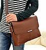 Мужская сумка Polo через плечо светло-коричневая, фото 4