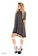 Пышное клетчатое платье-трапеция с кружевом