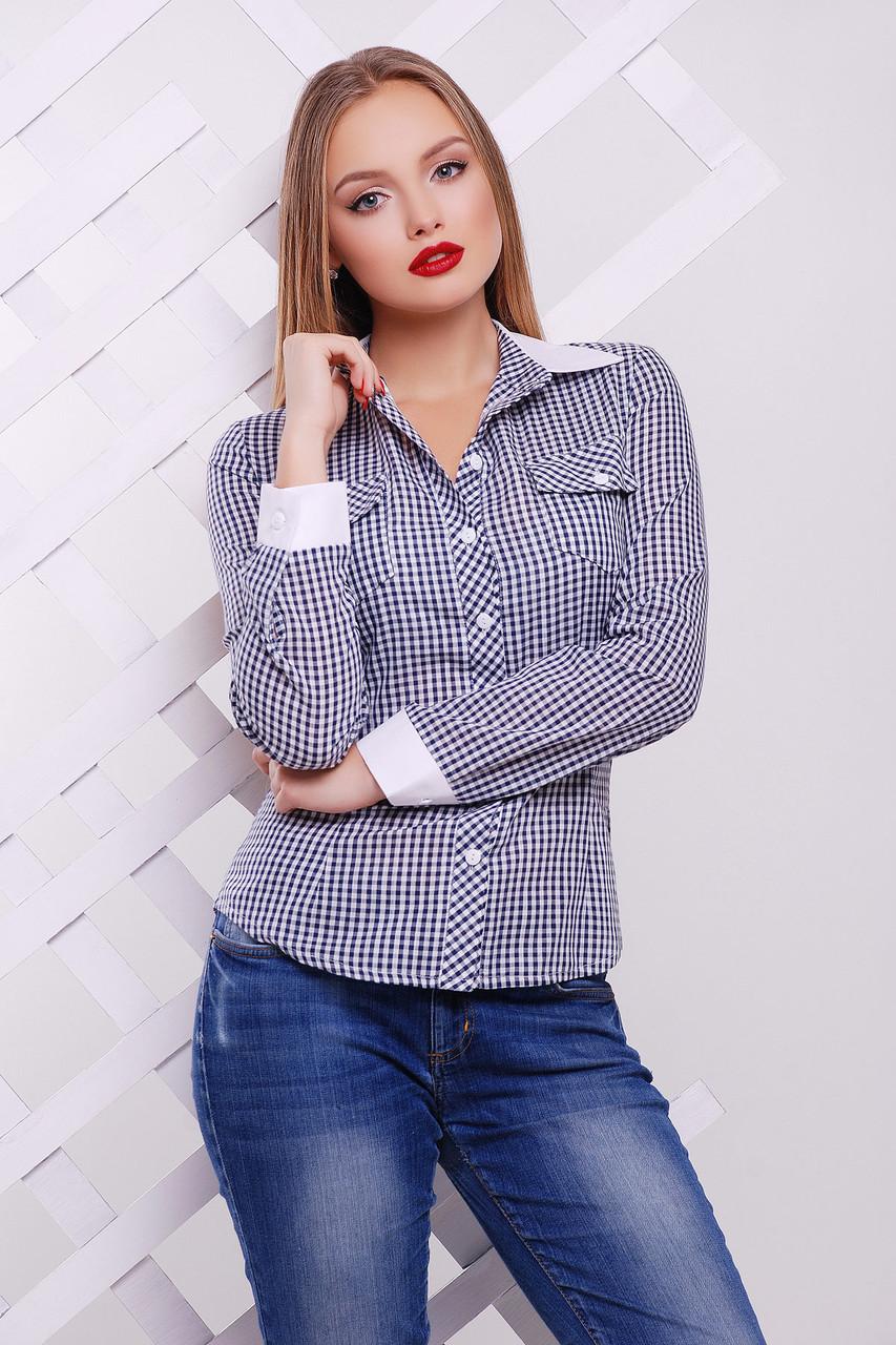 Блуза Техас д/р, синяя glam