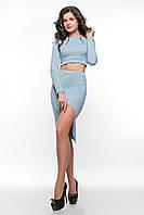 Голубой костюм из ангоры SO-14078-CYP ТМ Alpama 42-46 размер
