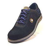 Напівчеревики чоловічі демісезонні нубук чорні взуття великих розмірів Rosso Avangard BS Prince Street Black Nub