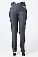 Женские классические брюки серого цвета Венди