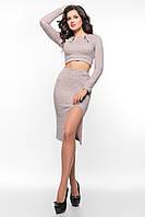Лиловый  костюм из ангоры SO-14078-LIL ТМ Alpama 42-46 размер