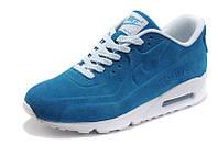 Кроссовки замшевые женские Nike Air Max 90 VT Blue White