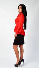 """Стильная блузка с баской """"Агаппия"""" Размеры 44,46,48, фото 2"""