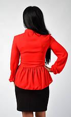 """Стильная блузка с баской """"Агаппия"""" Размеры 44,46,48, фото 3"""