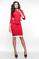 Офисный красный костюм SO-14075-RED ТМ Alpama 44-48 размер