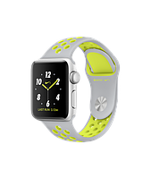 APPLE WATCH NIKE+ 38mm SILVER ALUMINUM CASE WITH FLAT SILVER/VOLT NIKE SPORT BAND (MNYP2)