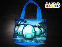 Пляжная сумка майнкрафт алмазы