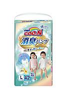 Трусики-подгузники GOO.N серии AROMAGIC DEO PANTS для детей весом 9-14 кг размер L, унисекс, 42 шт (853111)
