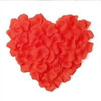Искусственные лепестки роз красного цвета, лепестки на свадьбу.