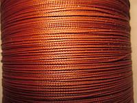 Нить полувощёная плетёная 0,8 мм медная ИТАЛИЯ