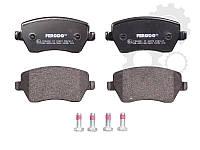 Дисковые тормозные колодки (передние) R14 на  Renault Dokker 2012->  Ferodo (Англия) FDB1617