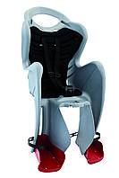 Сиденье задн. Bellelli Mr Fox Standart детское до 22кг (серебро с чёрным)