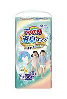 Трусики-подгузники GOO.N серии AROMAGIC DEO PANTS для весом детей 12-20 кг р.BigXL,унисекс,36шт. (853112)