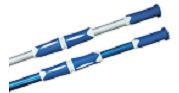 Штанга донного пылесоса для бассейна гофрированный алюминий, цвет - голубой, длина 2 х 240 см, толщина 1,1 мм.
