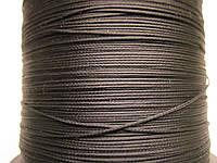 Нить полувощёная плетёная 0,8 мм жемчужная ИТАЛИЯ