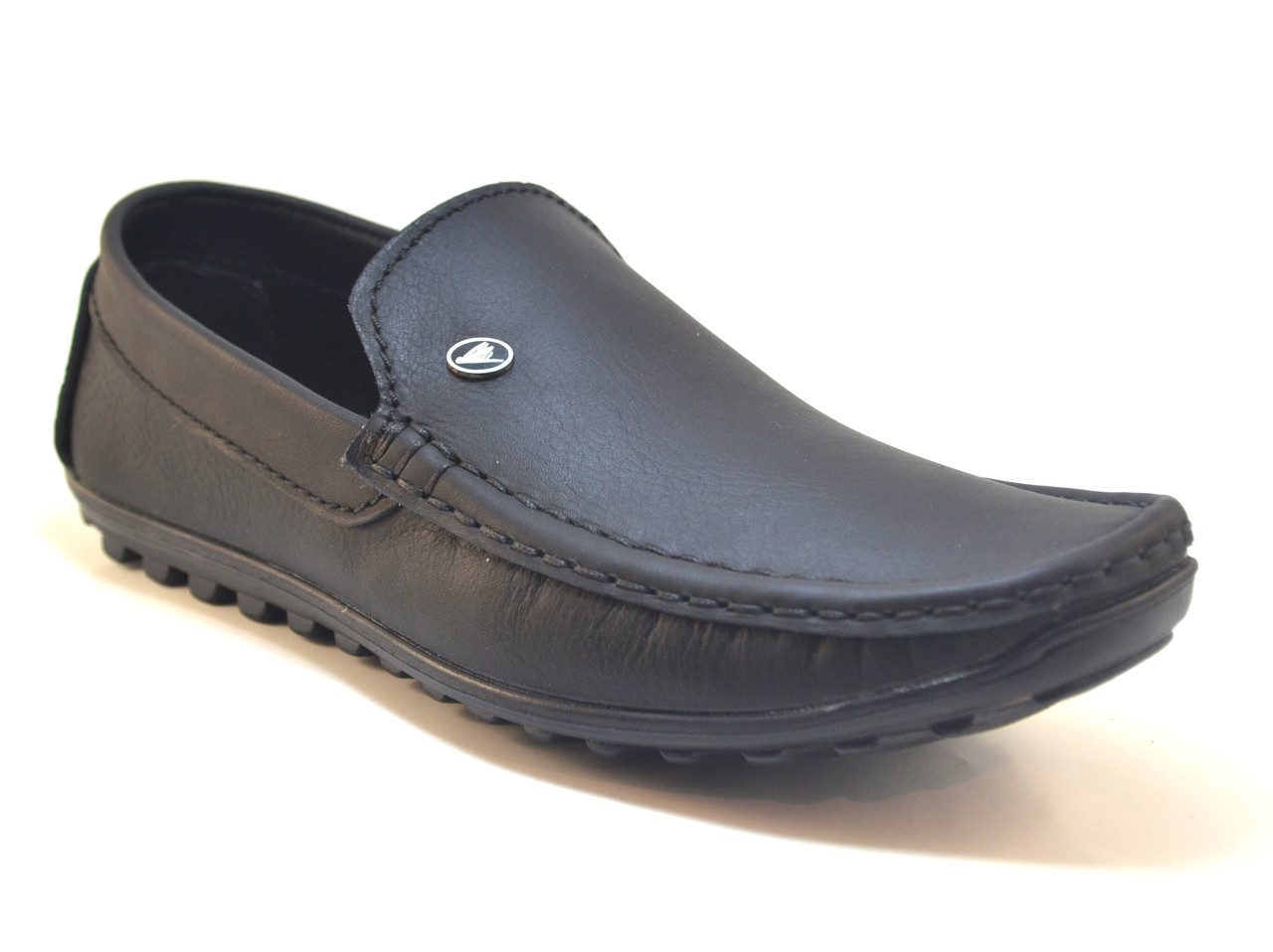 Мужская обувь больших размеров стильные мокасины из натуральной кожи Крейзи Хорс Rosso Avangard BS Crazy M4