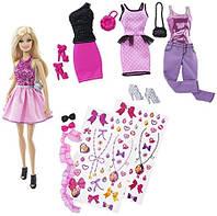 Подарочный набор кукла Barbie с набором мой гардероб / Barbie Fashion Activity Gift Set CDM12