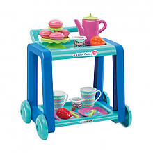 Игровой набор «Ecoiffier» (001618) сервировочная тележка с посудой и продуктами, 20 предметов