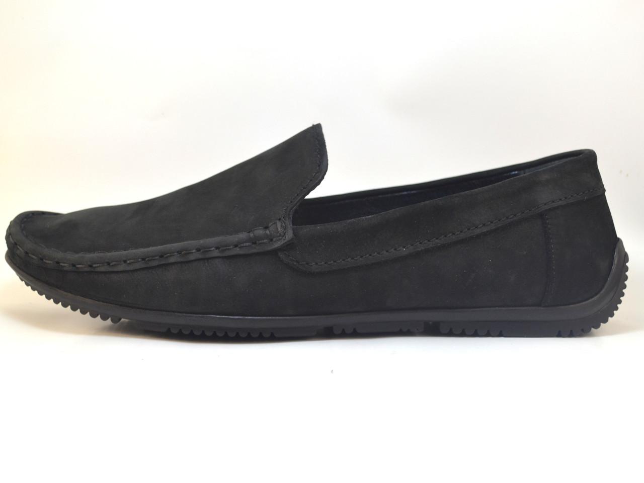 Обувь мальчик. Кожаные мокасины нубук Rosso Avangard. Alberto mS Black Nub