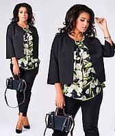 Костюм женский тройка пиджак брюки блуза 12050, фото 1