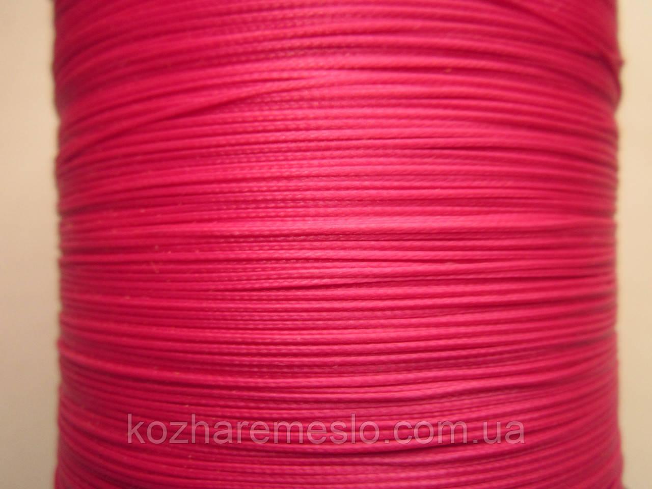 Нить полувощёная плетёная 0,8 мм фуксия ИТАЛИЯ