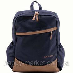 Ранец Рюкзак  школьный для подростка Wallaby Синий-Оранжевый 17-553428-4