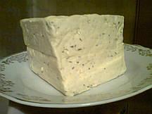 Тофу (соевый сыр) с чесноком и укропом
