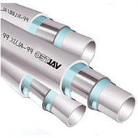 VALTEC ТРУБА PP- ALUX, арм. алюминием, PN 25, 20 MM (белый, по 2м)