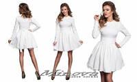 Жаккардовое платье №177-белый