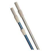 Штанга донного пылесоса для бассейна ребристый алюминий, цвет- серебро, длина 2 х 400 см, толщина 1,1 мм.