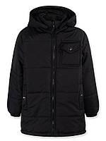 Модная, демисезонная куртка-парка мальчикам р.110,116,122 со съемным капюшоном.
