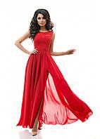 Женское вечернее платье Макси с разрезом р.42,44,46, -