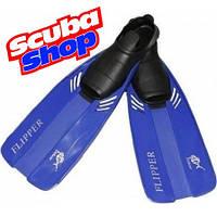 Ласты детские Dolvor Flipper с закрытой пяткой, цвет синий
