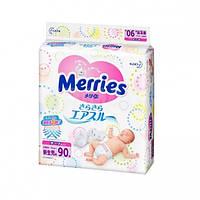 Подгузники Merries для новорожденных (2-5 кг) 90 шт
