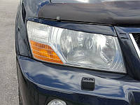 Накладки на фары Mitsubishi Pajero Wagon 3, Реснички Паджеро Вагон