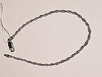 Серебряный браслет (Снейк с бусинами). Артикул 909Р 2/19
