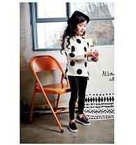 Детские классические кожаные лосины Арт.CZ904, фото 3