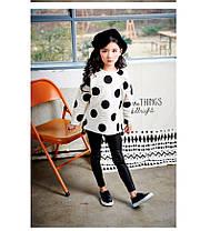 Детские классические кожаные лосины Арт.CZ904, фото 2