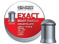 Пули пневматические JSB Diabolo Exact Beast, 250 шт/уп, 1,05 г, 4,52 мм