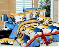 Полуторный комплект детского постельного белья ранфорс Minion с компаньоном TM TAG