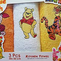 Подарочные полотенца 3 шт 50х30 для детей