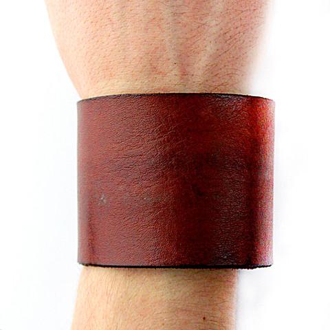 Шкіряний браслет Plate