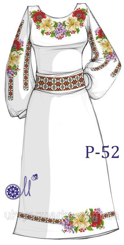 Заготовка для вишивання плаття бісером Р-52