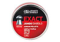 Пули пневматические JSB Diabolo Exact Jumbo, 250 шт/уп, 1,03 г, 5,52 мм