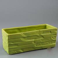 """Керамический вазон для цветов, кашпо """"Зелень"""" 2 шт"""